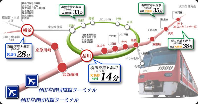 京急電鉄の路線網(京浜急行電鉄公式Webサイト)