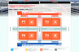 羽田空港国内線駐車場の週末の混雑状況