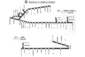 奥尻町有バス路線図(奥尻町公式HPより)