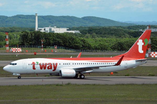 ティーウェイ航空機体(出典:Traicy)