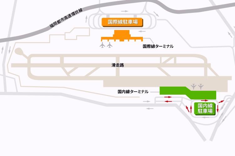 福岡空港駐車場地図(出典:福岡空港公式サイト)