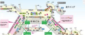 成田空港T1フロアマップ