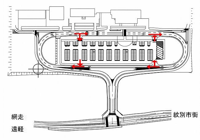 紋別空港駐車場Map