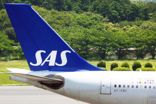 スカンジナビア航空機体(出典:TRAICY)