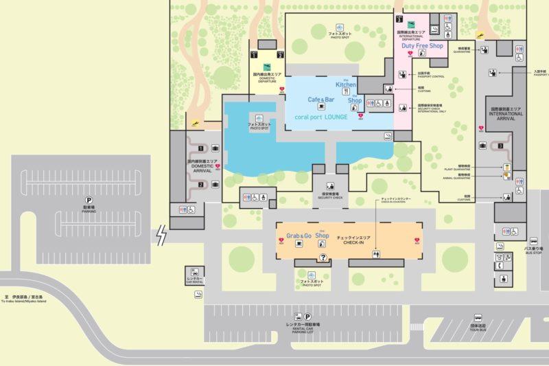 下地島空港Map(出典:下地島空港公式サイト)