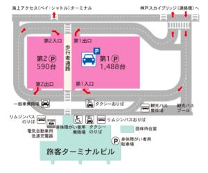 神戸空港駐車場:神戸空港公式サイトより引用