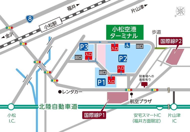 小松空港駐車場Map