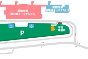 函館空港駐車場Map