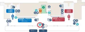 新潟空港レンタカー会社地図(出典:新潟空港ビルディング公式サイト)