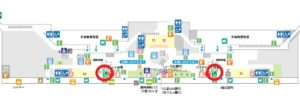 羽田空港第2旅客ターミナルレンタカーカウンター地図(出典:公式サイト)